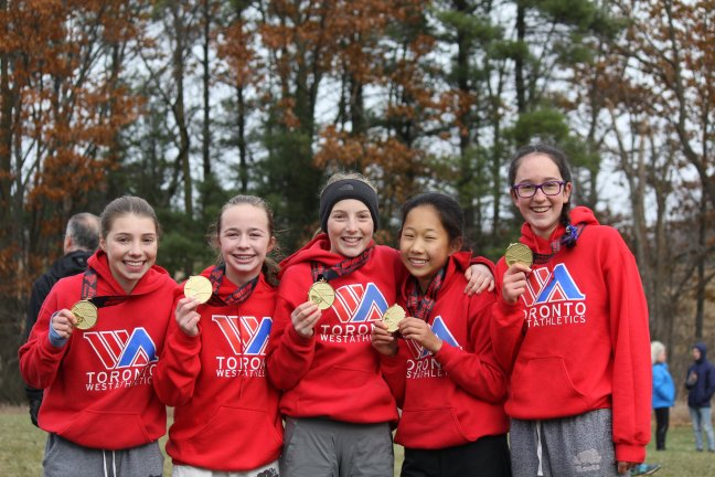 athletics ontario Bantam girls xc