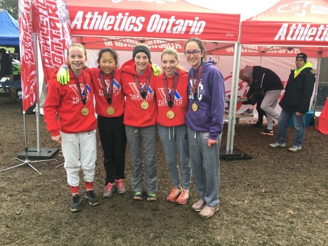 Bantam girls cross-country running